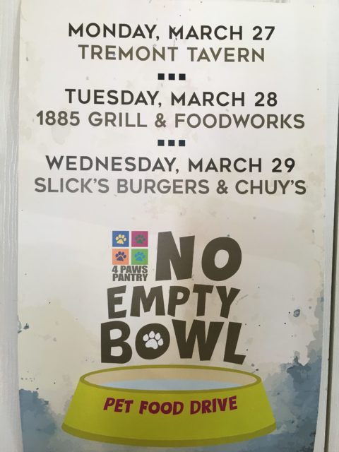 #NoEmptyBowl, March, 2017
